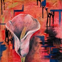 """""""Calla Lily"""" Oil on canvas, 18"""" x 18"""""""