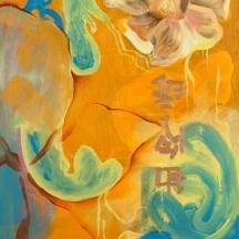 """Magnolia"" Oil on canvas, 32"" x 20"""