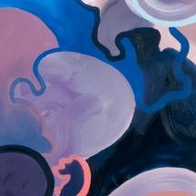 """""""Smells Like Rain"""" Oil on canvas, 52"""" x 15.5"""""""