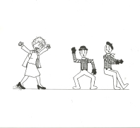 Original cartoon, Bradley University, September 26, 2008