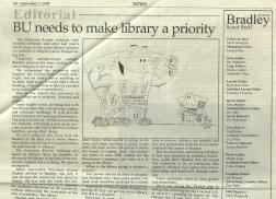Editorial Cartoonist, Bradley University, September 5, 2008