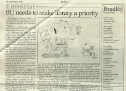Editorial Cartoonist, Bradley University, September 5, 2008