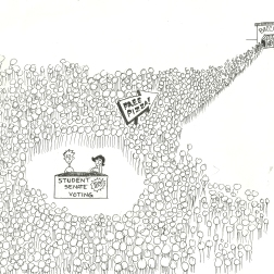 Original cartoon, Bradley University, September 12, 2008