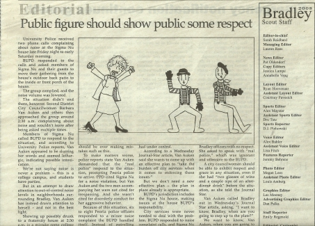 Editorial Cartoonist, Bradley University, September 26, 2008