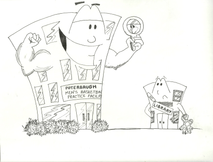 Original cartoon, Bradley University, September 5, 2008