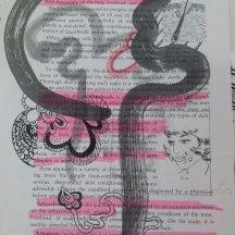Ink, pen, marker, on paper