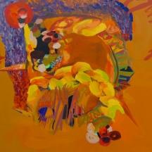 Oil paint on canvas 3 x 3 feet 2015