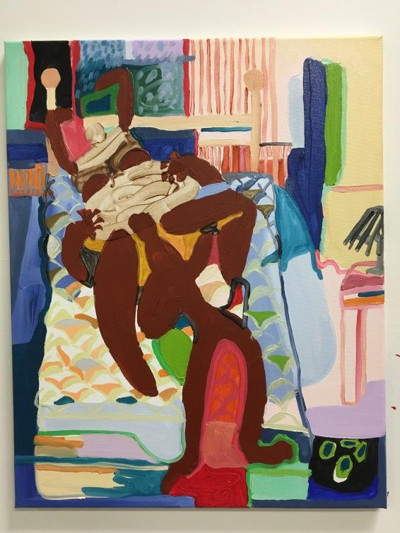 """""""Mattress"""" 2017 Oil paint on canvas"""