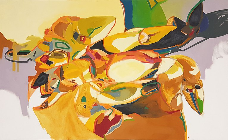 Oil paint on canvas 6 x 3.9 feet 2016