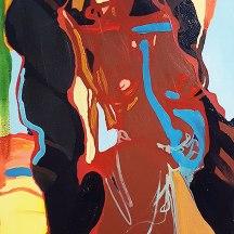 Oil paint and acylic paint on canvas 1.5 x 1.7 feet 2015