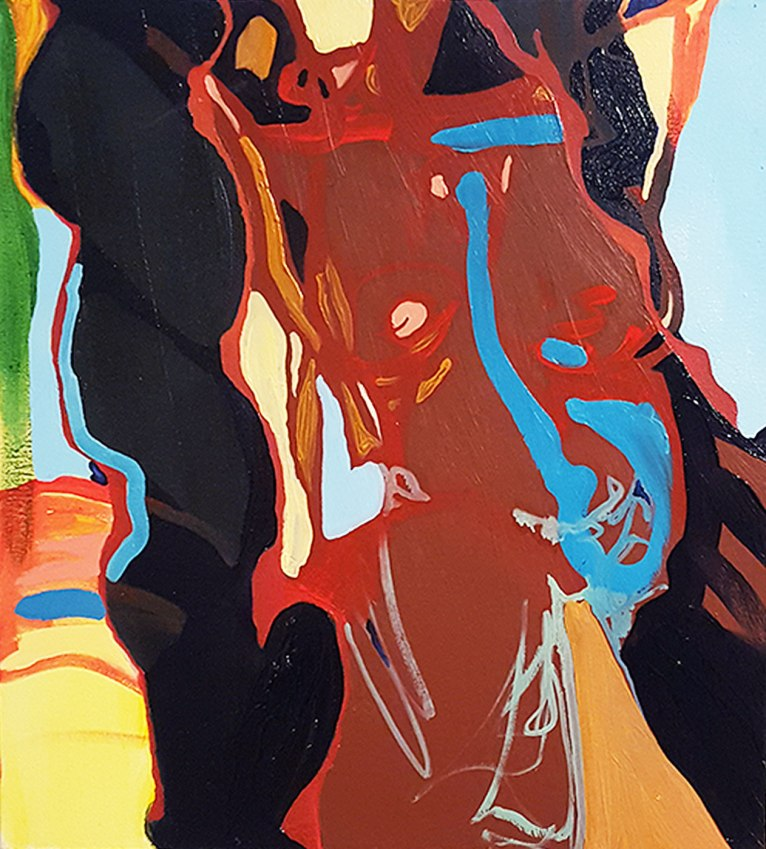 Oil paint and acylic paint on canvas 1.5 x 1.7 feet 2015
