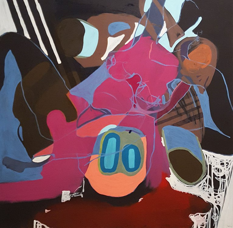 Oil paint on canvas 3 x 3 feet 2015