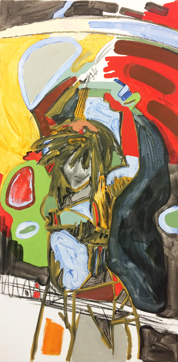 Oil paint and cold wax on canvas 3 x 2 feet 2015