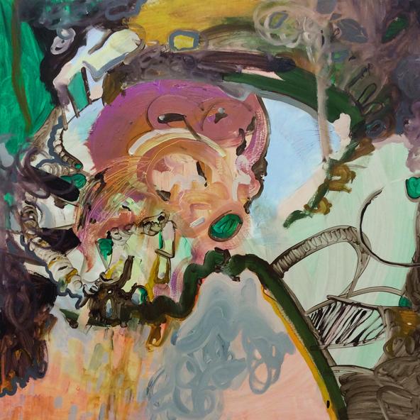 Oil paint on canvas 3 x 3 feet 2014