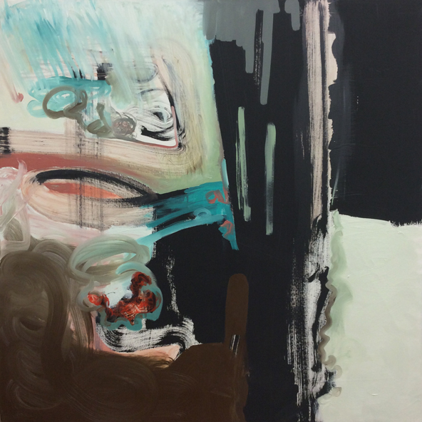 Oil paint and black gesso on canvas 3.5 x 3 feet 2014